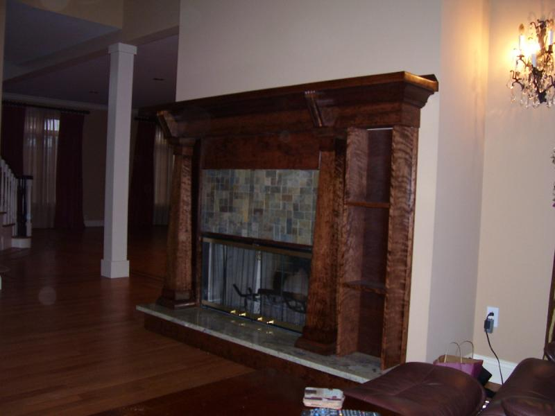 Cherry Fireplace Mantle/Surround with Granite Hearthstone