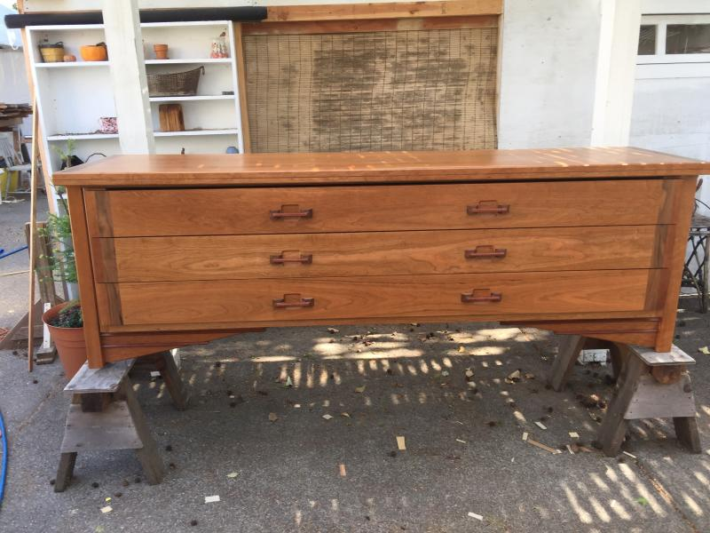 Solid Cherry Blanket Chest
